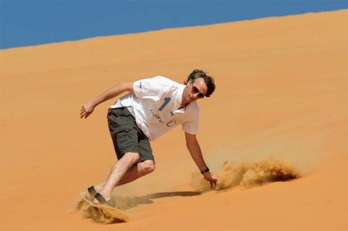 hawk sandboarding saudi arabia