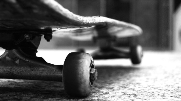 skateboard-black-and-white-photo