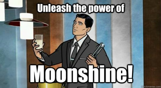 Power of moonshine