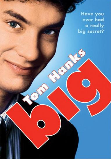 big tom hanks, big movie, big 1988, tom hanks big movie, rego's life, musings episode 32 because really life's just one big playground