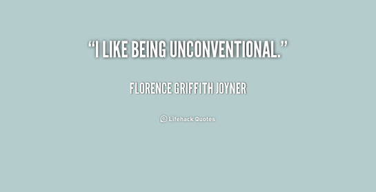rego's life, i like being unconventional florence griffith joyner, for the weekenders the unconventional weekend