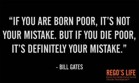 if you are born poor bill gates