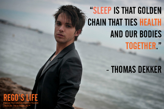 sleep is that golden chain that ties health and our bodies together thomas dekker, sleep quotes, thomas dekker quotes, rego's life quotes, health quotes, rego's life, quote wednesdays, rego's life quote wednesdays, quote wednesdays rego's life