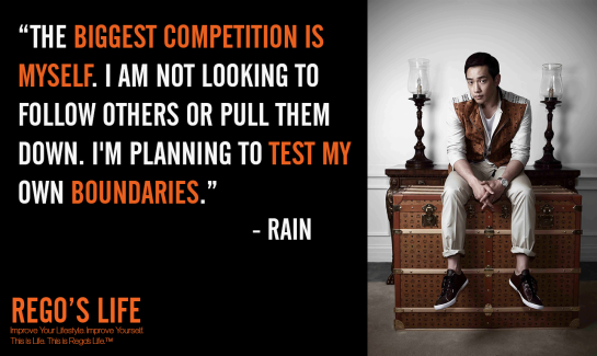 The biggest competition is myself I am not looking to follow others or pull them down I'm planning to test my own boundaries Rain, Rego's Life quotes, Bi Rain quotes, Rain quotes, Bi Rain, competition quotes, Musings Episode 80 Competition, Rego's Life Musings Episode 80 Competition, Musings Episode 80 Competition Rego's Life, Rego's Life, competition, you vs you, me vs me, the only competition is yourself, competitive, life, millenials, succcess, drive, comfort zones, self-confidence, how to beat the competition, how to win, win, how to win at life, karma, competition quote, university, work, motivational, inspirational, how to live life, how to live life to the fullest, ignore the haters, believe in yourself
